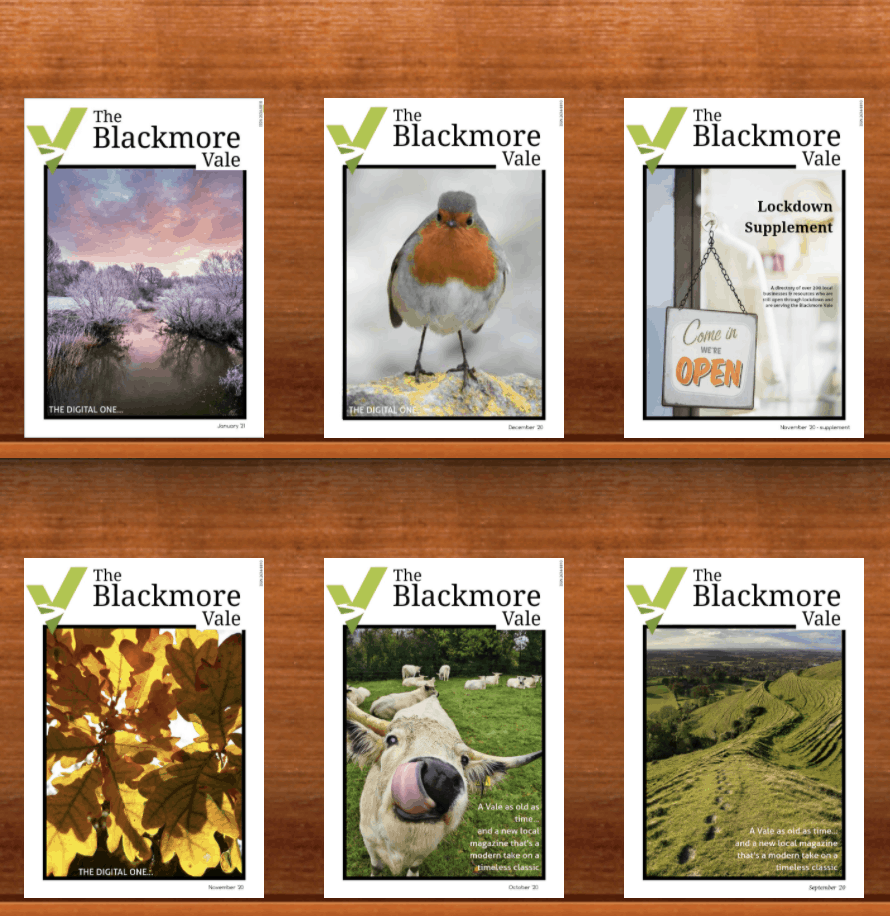 All the previous issues - subscribe to The Blackmore Vale to receive.