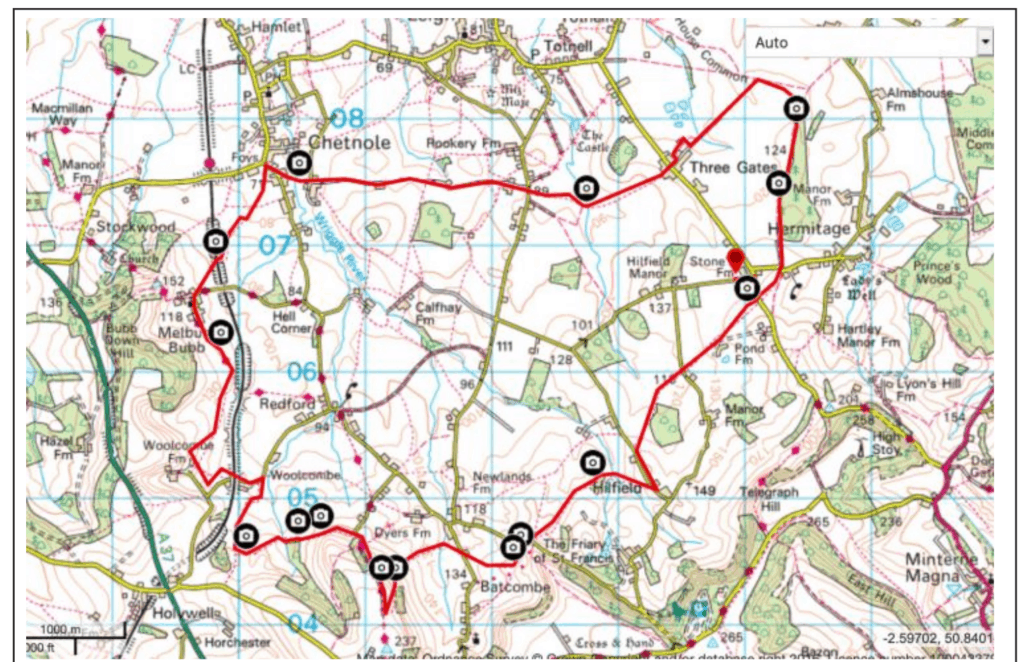 Batcombe & Chetnole Circular Walk Map