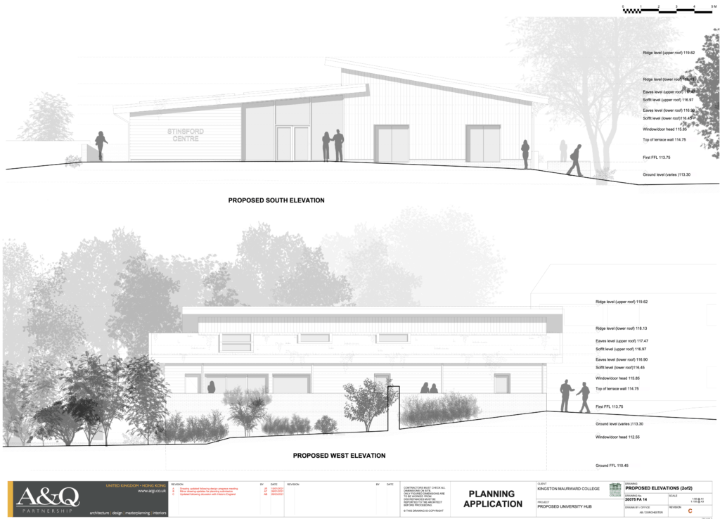 approved plans for University Centre for Rural Dorset kingston maurward
