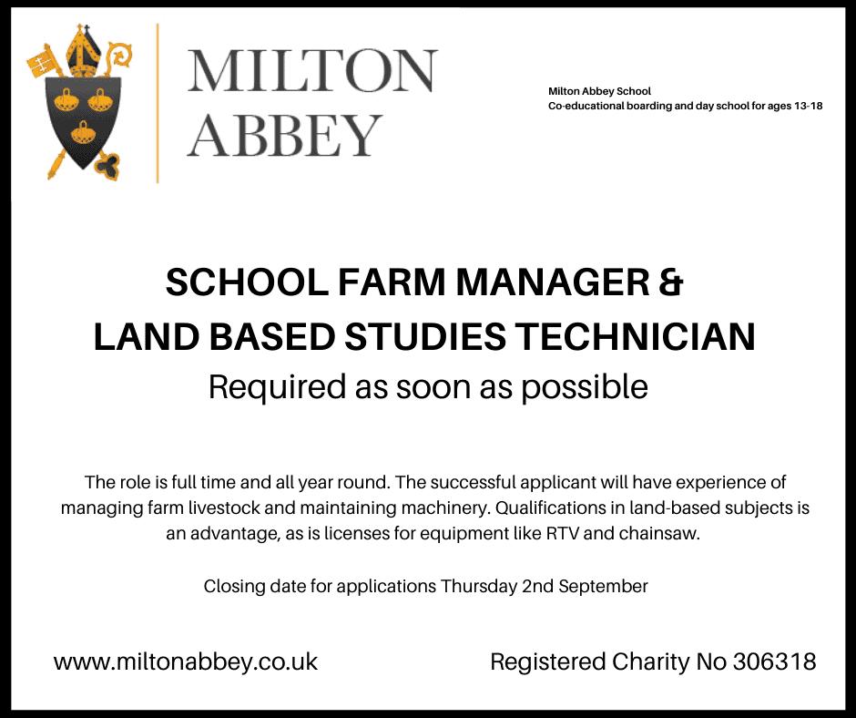 Blackmore farm job milton abbey