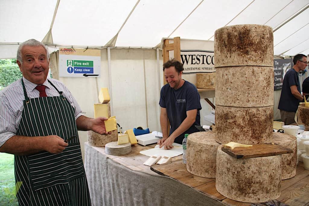 Sturminster Cheese Festival stall 2021